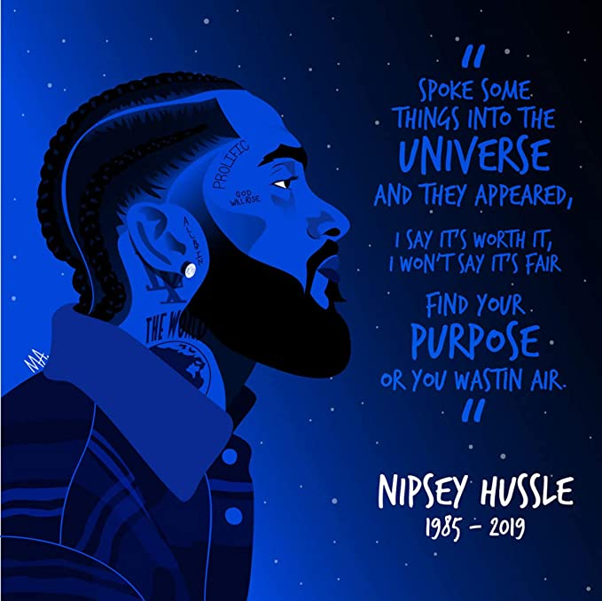 Details about  /14x21 24x36 Nipsey Hussle Rapper Singer Star Music Fashion Poster E254