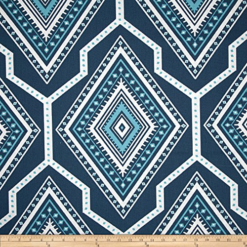 Premier Prints Gita Premier Navy/Coastal Blue Fabric By The Yard (Coastal Fabrics For Upholstery)