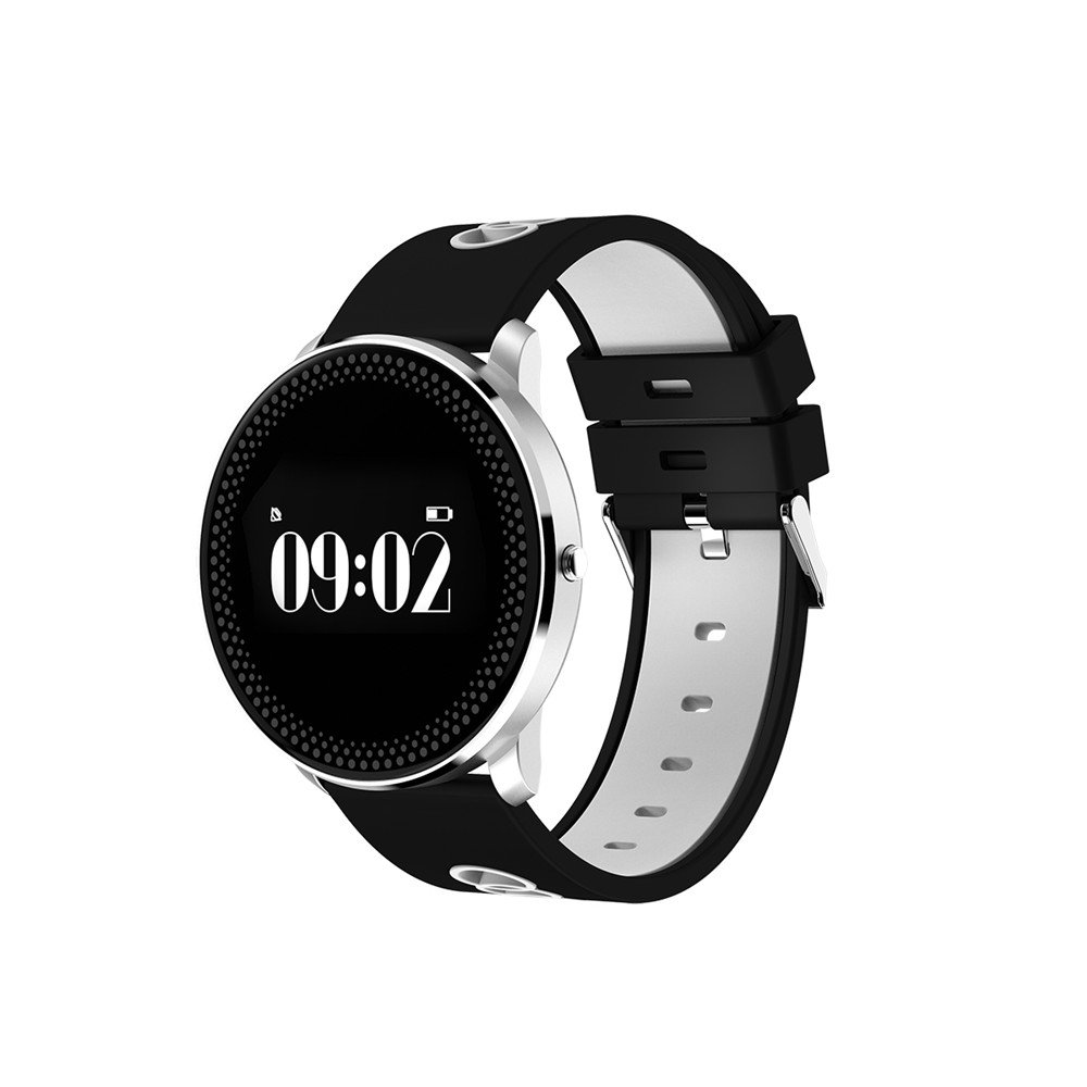 Smart Bracelet Watch,YiMiky Smart Bluetooth Watch Smart Band Blood Pressure Heart Rate Monitor Thermometer Pedometer Wristband for Android IOS-Gray