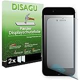 2 x DISAGU Film blindé film de protection d'écran pour Apple iPhone 6 / Apple iPhone 6s film de protection contre la casse (intentionnellement plus petit comme l'écran, parce qu'il est arqué)