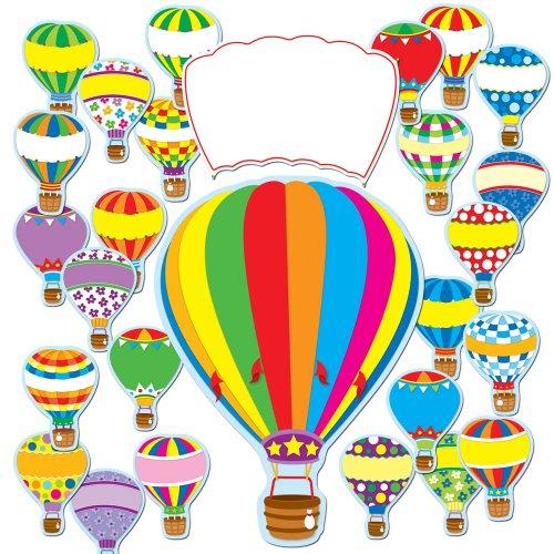 Carson Dellosa Hot Air Balloons Bulletin Board Set (110163) -