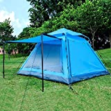 livelife001 Instant 4 Person Hydraumatic Large Dome Tent Double Layer 2-Door Opening Screened Family Camping Canopy Shelter Tent (82'' x 82'' x 53'')