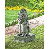 Lion Guardian Statue Perfect For Front Door Or Driveway
