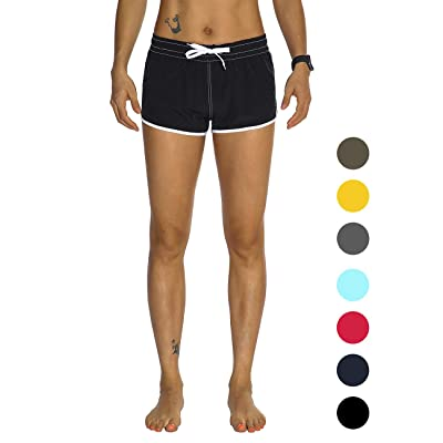Amazon.com : Rocorose Women's Board Shorts Quick Dry Drawstring Sports Summer Bottom Swim Shorts with Pocket : Clothing
