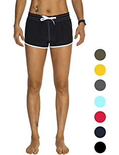 53f68a1ab9 Rocorose Women's Beach Board Shorts Quick Dry Summer Sports Swim Trunks  with Side Pocket