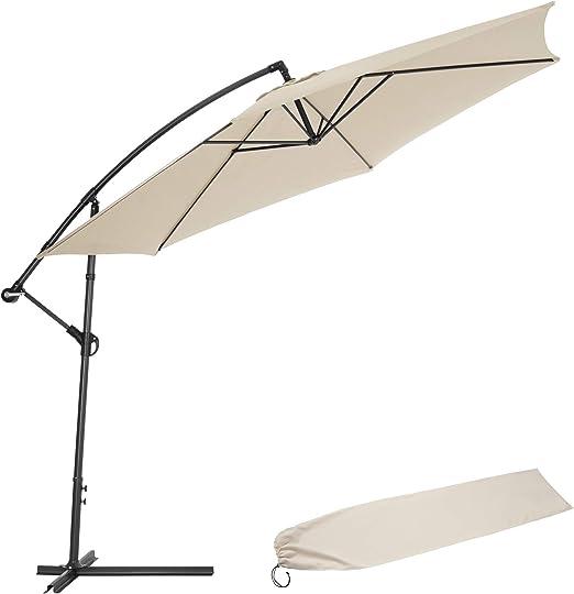 TecTake 3,5m Sombrilla Parasol de para terraza jardín protección Solar UV (Beige | No. 400622): Amazon.es: Productos para mascotas