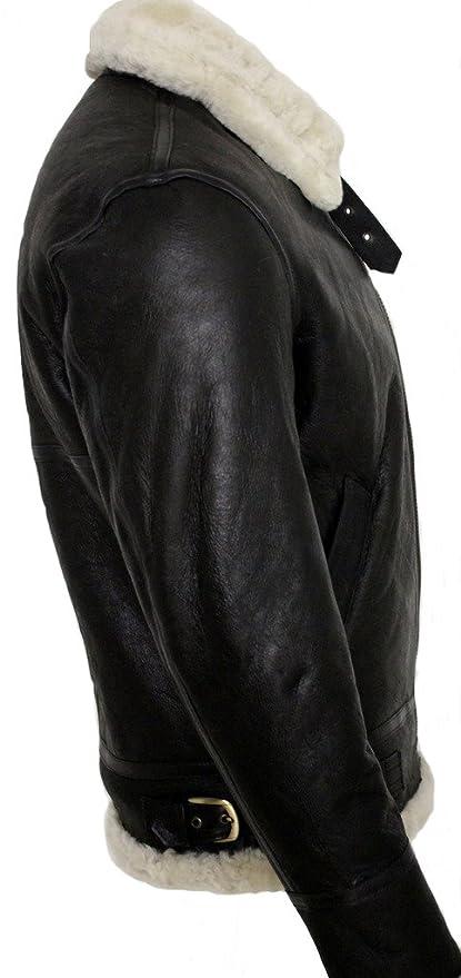 17093d3238e Infinity Men s Cream B3 Shearling Sheepskin World War 2 Bomber Leather Flying  Aviator Jacket at Amazon Men s Clothing store