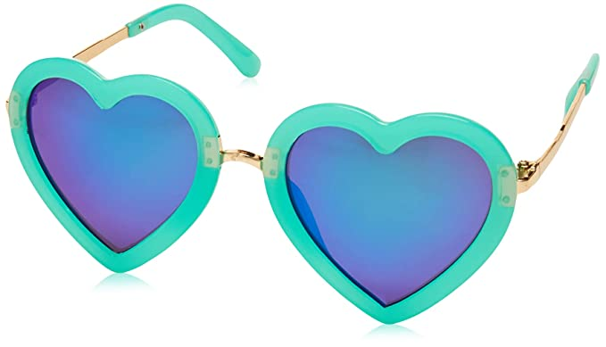 CMK Trendy Kids Kids Polarized Heart Shaped Sunglasses for Toddler Girls Age 3-10