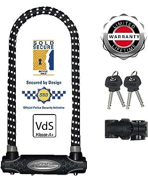 Master Lock 8195EURDPROLWREF Candado U, Llave, Soporte de ...