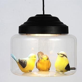 WQW Kronleuchter, Modern Retro Kronleuchter Schatten Anhänger Abgehängte  Decke Licht LED Klarglas Leuchten (