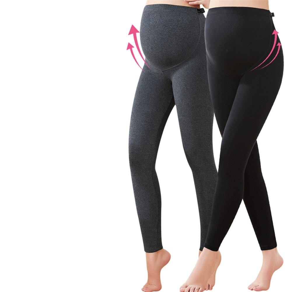 Deylaying /Épais maternit/é taille r/églable coton Leggings cheville longueur femmes pantalons de grossesse pantalons