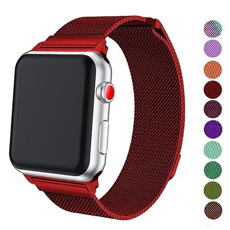 grossiste c2ecc ba090 VODKE milanais Bracelet, Compatible pour Apple Watch 38mm 42mm 40mm 44mm  Bracelet de Compatible pour iwatch Series 1 2 3 4