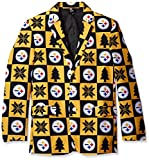 NFL Pittsburgh Steelers Men's Patches Ugly Business Jacket, Size 46/Large
