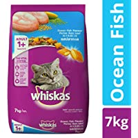 Whiskas Adult Dry Cat Food, Ocean Fish flavour – 7 kg Pack