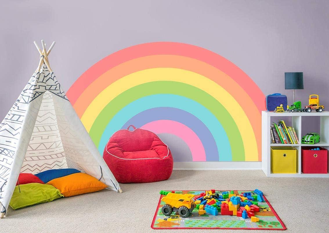 Amazon Com Rainbow Wall Sticker Decal Bedroom Decor Art Mural Nursery Kids Room Wc107 Huge Kitchen Dining