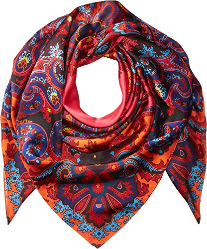 Echo Design Women's London Nights Silk Square Scarf Multi One Size by Echo Design
