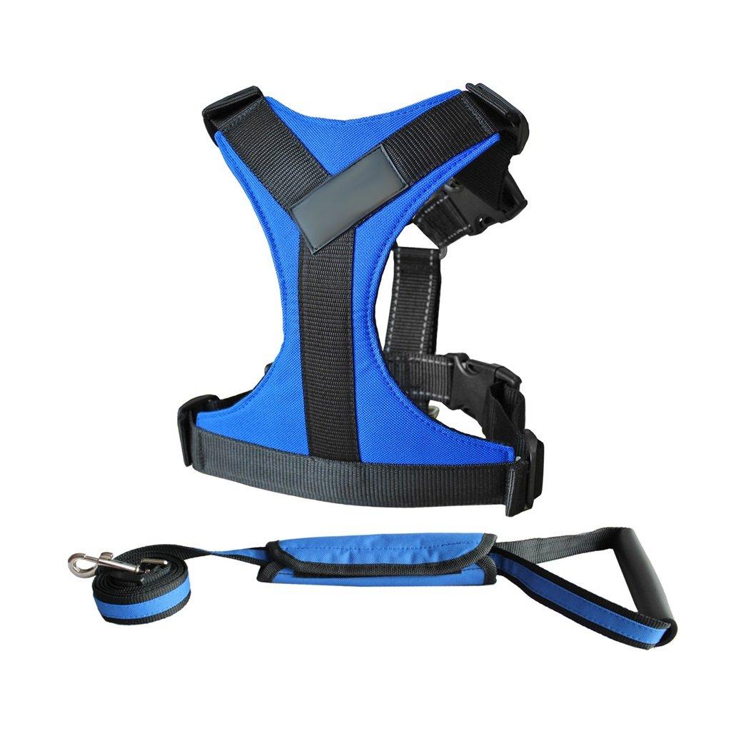 bluee Xl bluee Xl GWM Leashes French Bulldog, golden Retriever, Chest, Girdle, Dog Leash, Medium Dog, Large Dog, Dog Leash, Dog Harness, Dog Vest, Pet Supplies (color   bluee, Size   XL)