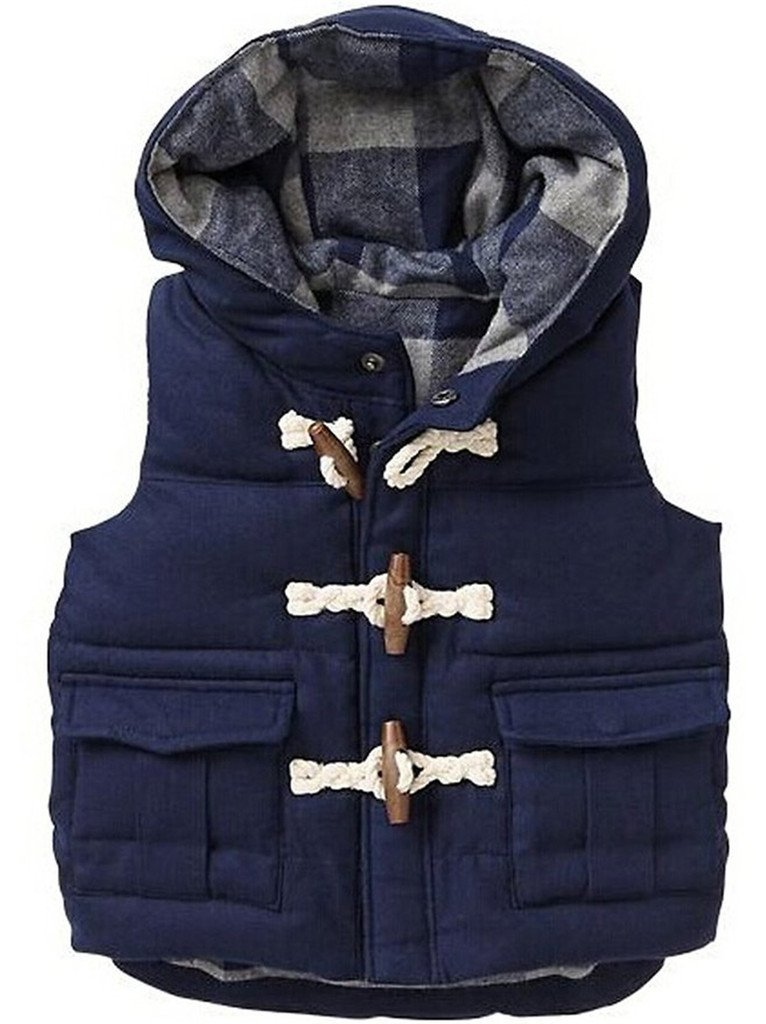 Machbaby Little Boys' Down Vest Winter Puffer Bubble Vest