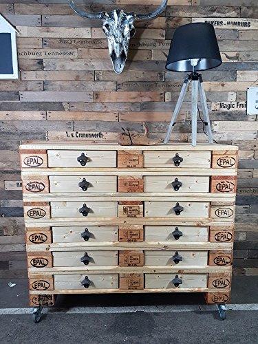 Cronenwerth Sideboard im Industrial Style aus Paletten mit 12 Schubladen