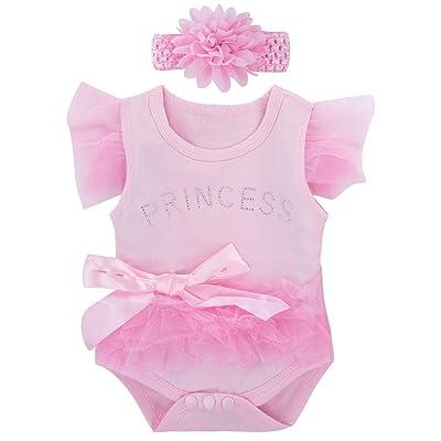 A&J Design Baby Girls' Lace Dress Bodysuit