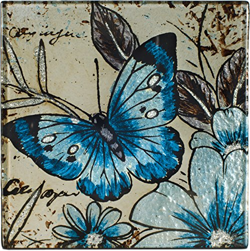 Angelstar 19577 Vintage Butterfly Square Coasters (Set of 4) 4