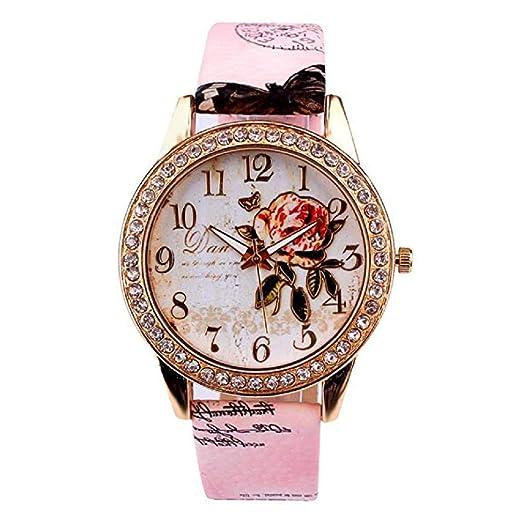 Relojes de Flores para Mujer, Relojes de señora de relojería analógicos únicos Relojes para Mujeres