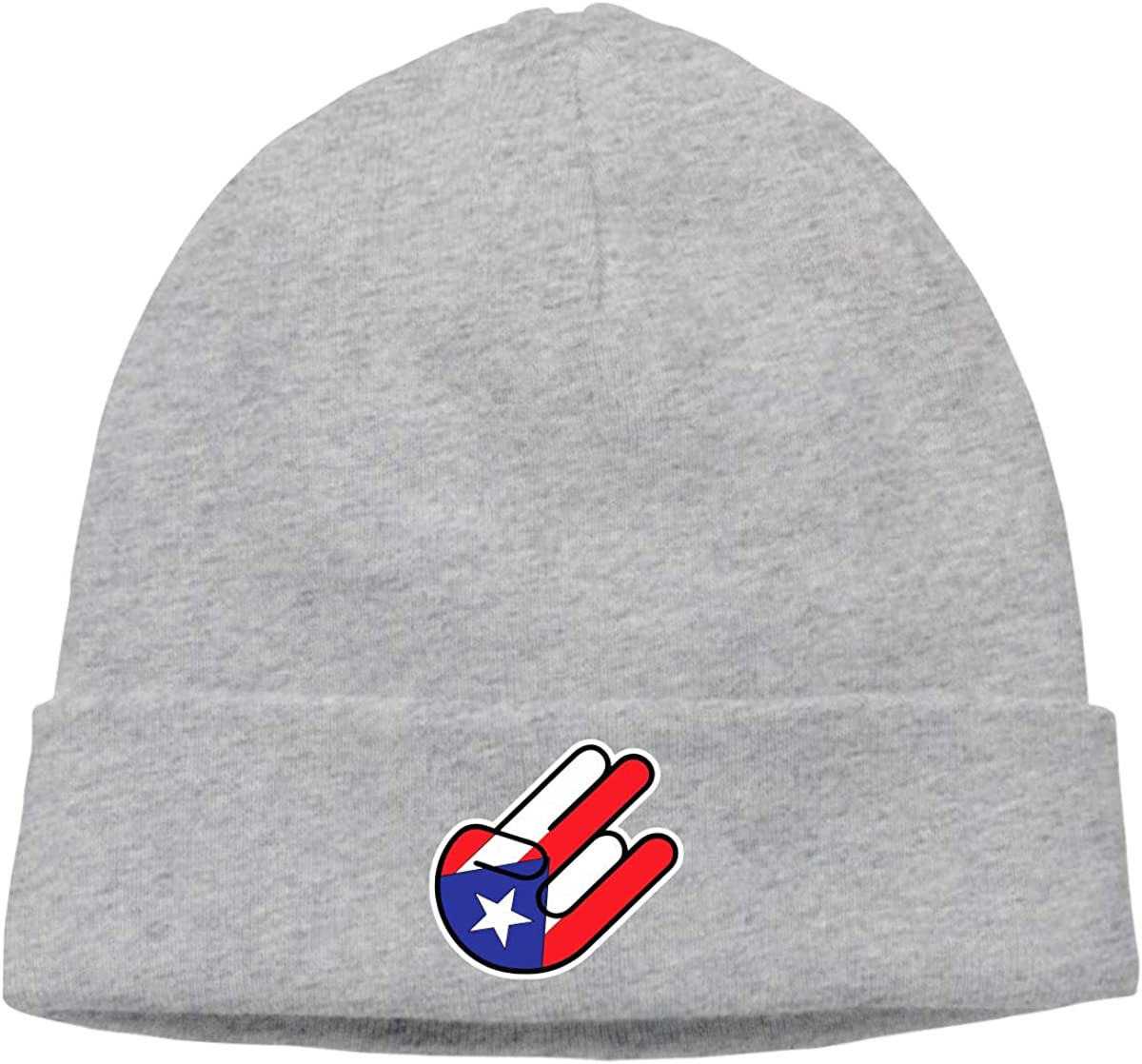 BBlooobow Unisex Pureto Rican Flag Flag Soft Knit Beanie Caps