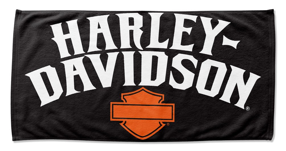 ハーレーダビッドソンIdentity B & Sビーチタオル、30 x 60インチ、ブラック/オレンジnw997202 B079V5645N
