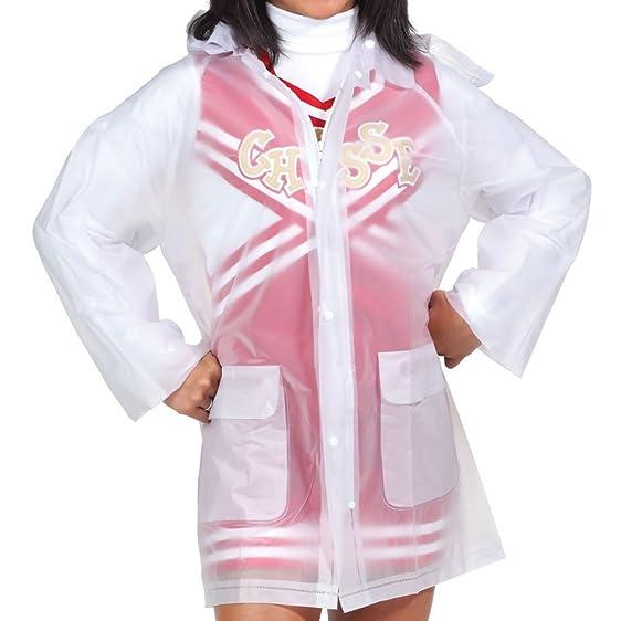 Amazon.com: Clear Rain Jacket With Hood - Womens Sizes: Clothing