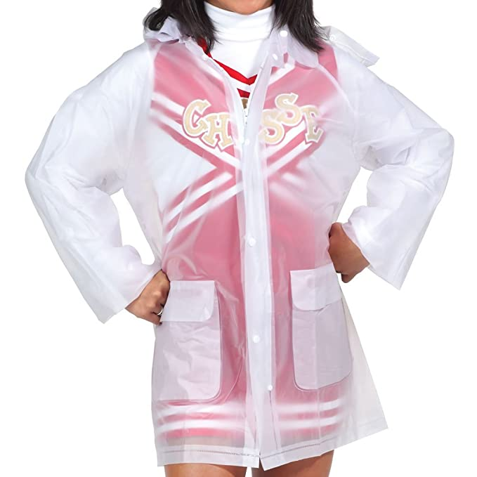 Clear Rain Jacket With Hood - Womens Sizes