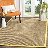 Kitchen Rugs Gold Safavieh Natural Fiber Collection NF114X Basketweave Natural and  Gold Seagrass Area Rug (4' x 6')