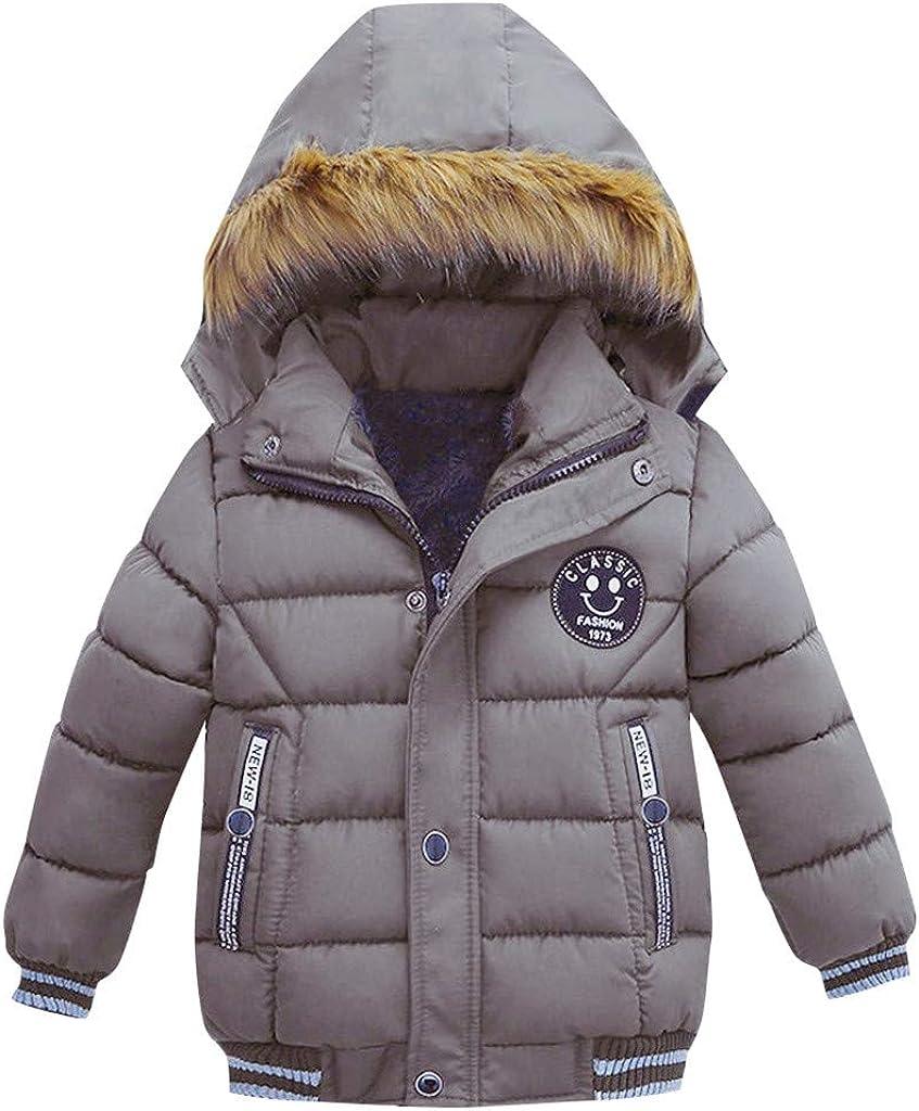 Blouson Manteau Fourrure Chaud Enfant Gar/çon B/éb/é Ski V/êtement Doudoune /à Capuche Veste /à Manches Longues Chaud 1-5 Ans Sunenjoy