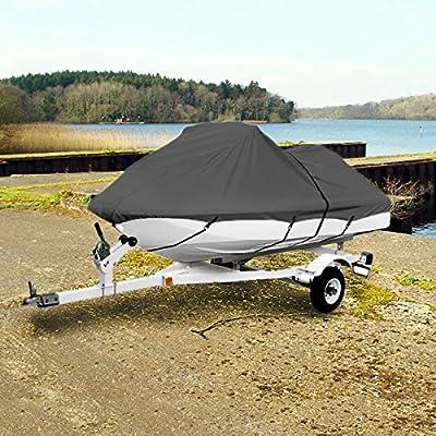"Neh Gray Trailerable Pwc Personal Watercraft Cover Covers Fits 1-2 Seat Or 104""-115"" Length Waverunner, Sea Doo, Jet Ski, Polaris, Yamaha, Kawasaki Covers"