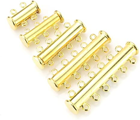 10Pcs Multi Strand Slide Tube Clasps multylayers Connector for Necklace Jewelry