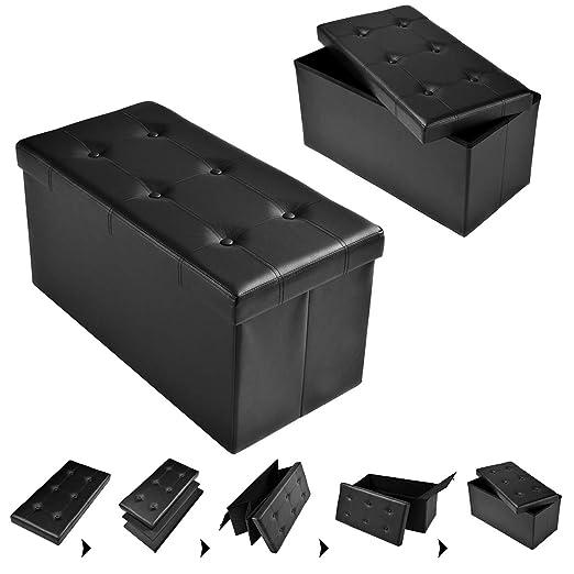 Fds Costway Sitzhocker Sitzbank Faltbar Sitzbox Aufbewahrungsbox