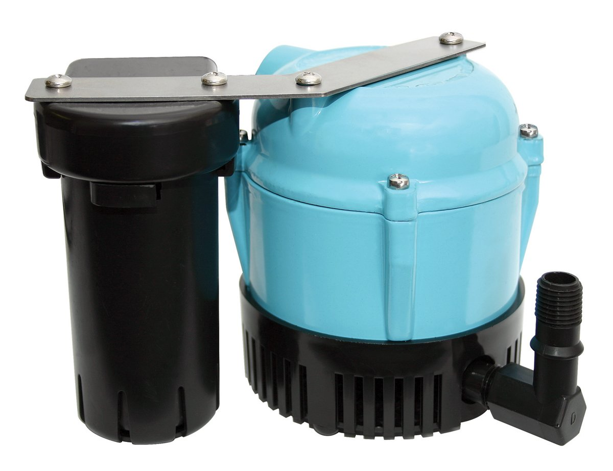 Little Giant 550521 1-ABS Discharge Shallow Pan Condensate Removal Pump, 115 Volt 205 GPH