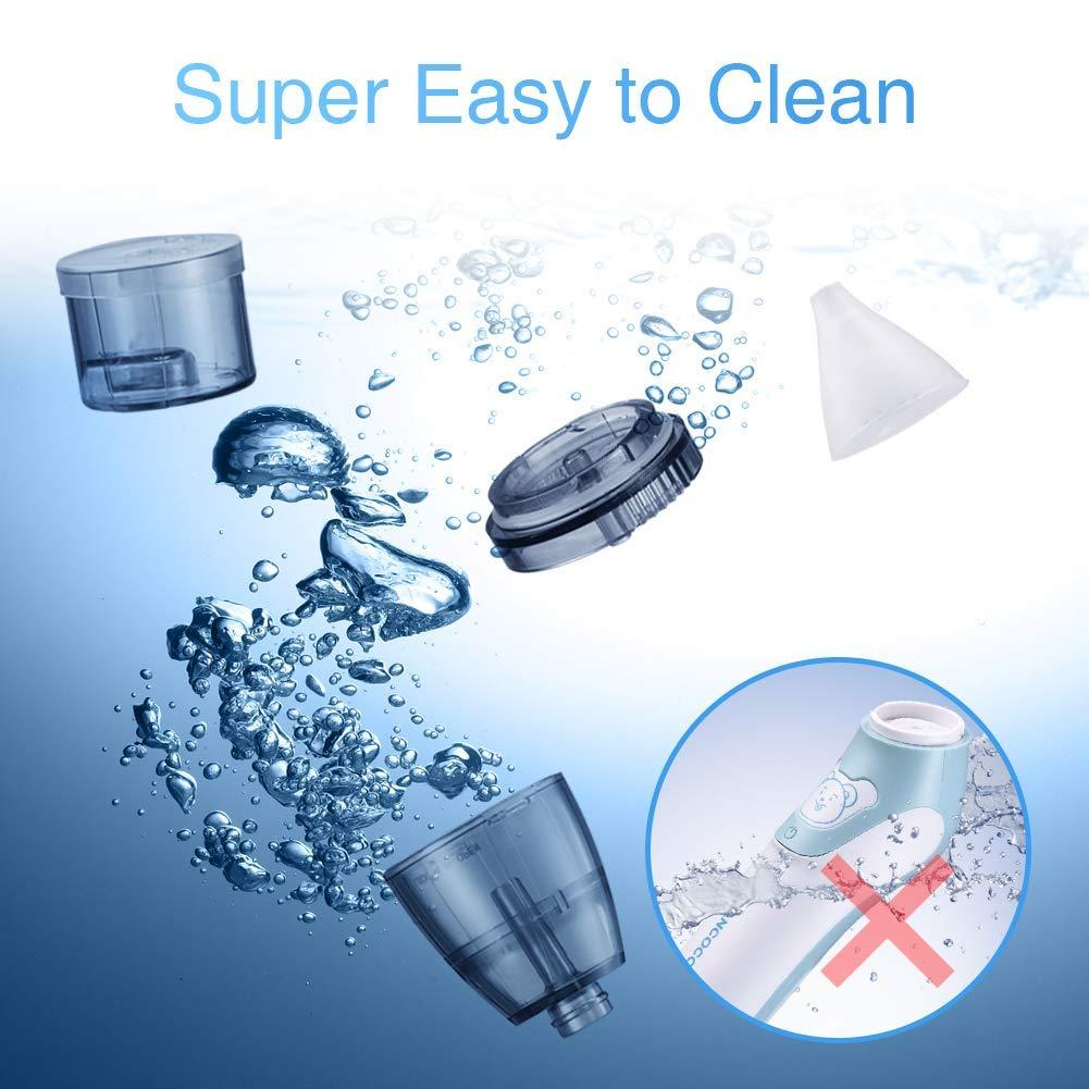 Uman/® 2 en 1 Aspirateur nasal /électrique avec 3 buses /à morve r/éutilisables pour les nouveau-n/és les tout-petits et les enfants de bas /âge Mouche b/éb/é