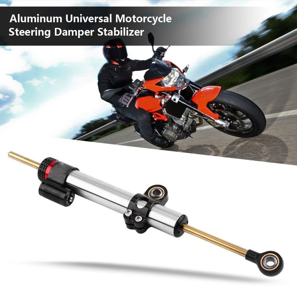 Direction Amortisseurs en aluminium de moto universel stabilisateur Compatiable avec MT10 MT 07 MT09 Type Long Amortisseur de direction