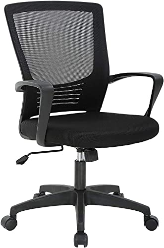 Office Chair Ergonomic Desk Chair Swivel Rolling Computer Chair Executive Lumbar Support Task Mesh Chair Metal Base