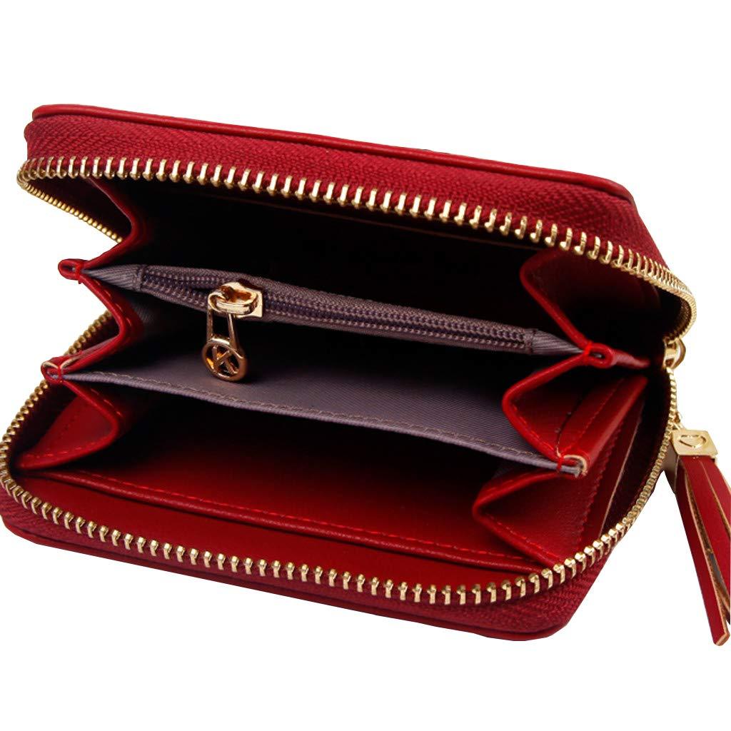 Amazon.com: Monedero de bolsillo para mujer, estilo corto, a ...
