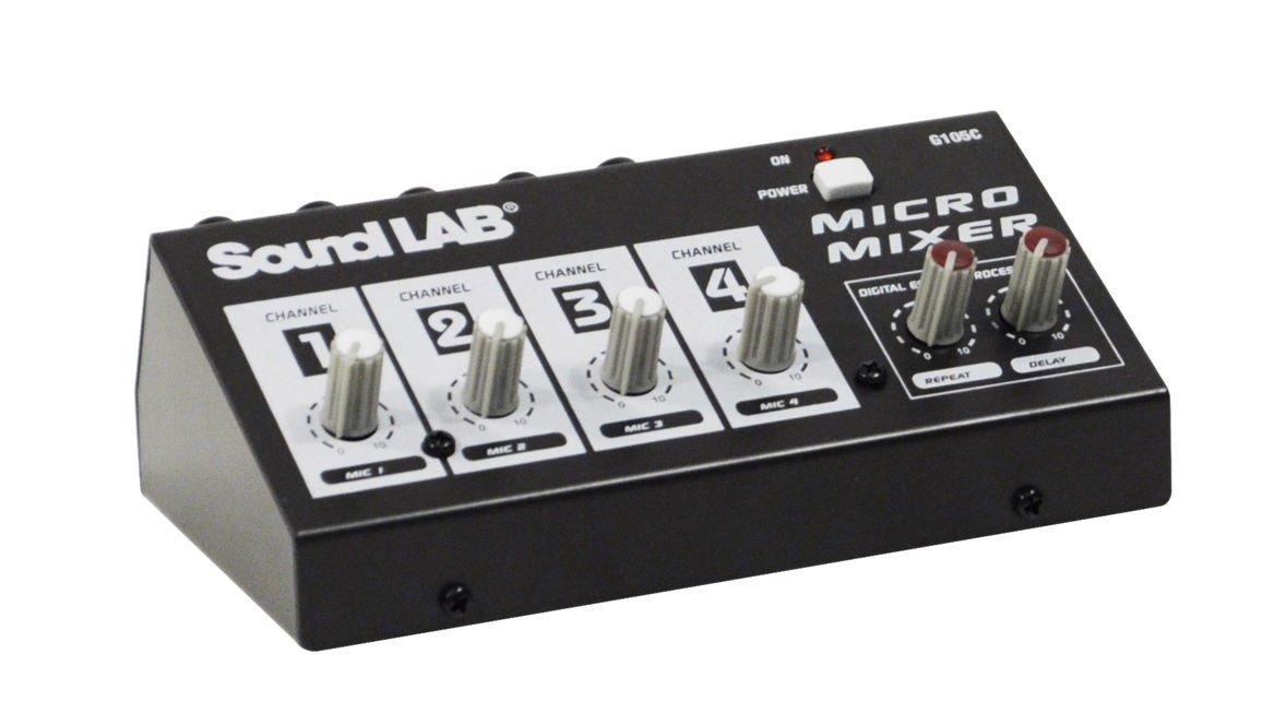 Mesa de mezclas Mixer Console 4 Micro micrófono Controle efectos ...