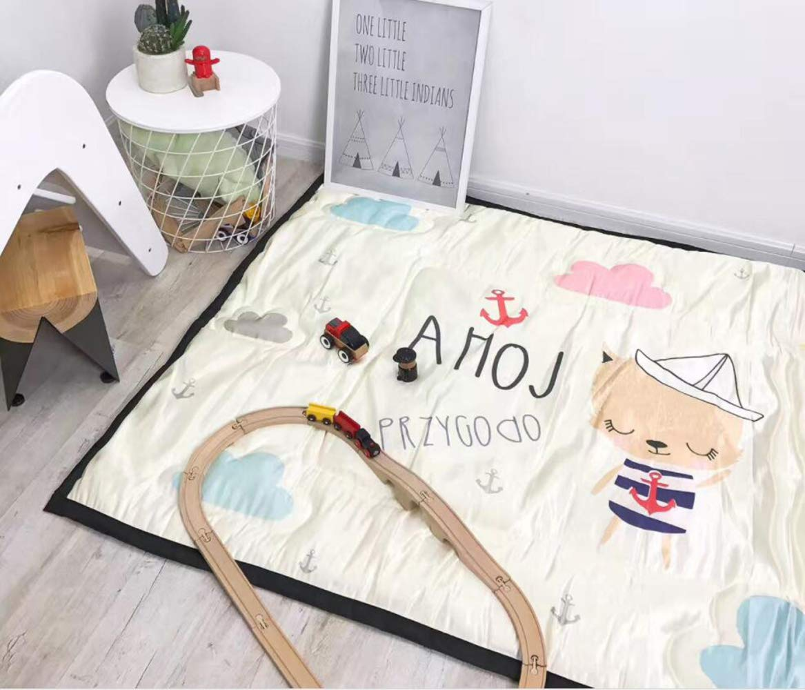 QXMEI Children Crawling Mats Cotton Ice Silk Simple Cartoon Carpet Game Pad by QXMEI (Image #7)