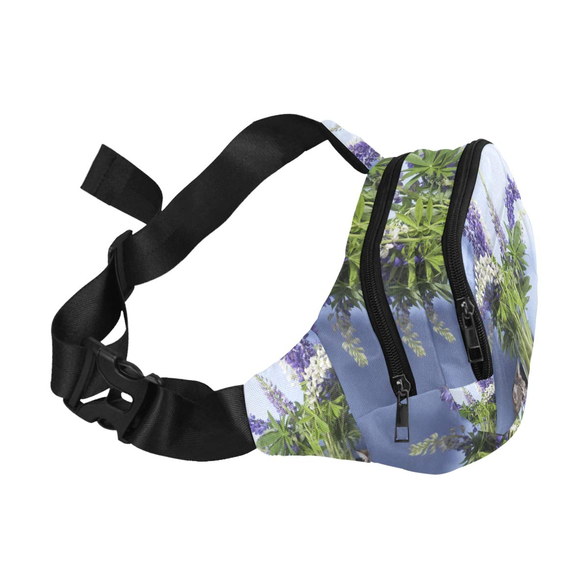 Cats Playing By Vases Fenny Packs Waist Bags Adjustable Belt Waterproof Nylon Travel Running Sport Vacation Party For Men Women Boys Girls Kids