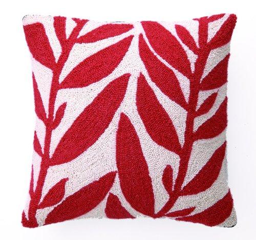 Peking Handicraft Hook Pillow, Seaweed II, 18-by-18-Inch