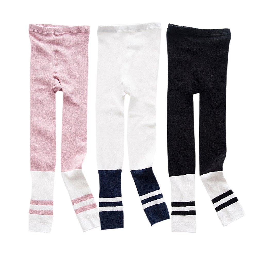 Apregies 3 Pack Kids Boy Girl Autumn Patchwork Sports Leggings for Children