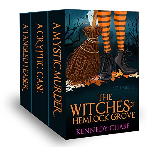 Stock up on Cozy Halloween Witch Mysteries with this 3-in-1 BOXED SET ALERT!  Witches Of Hemlock Cove by Kennedy Chase