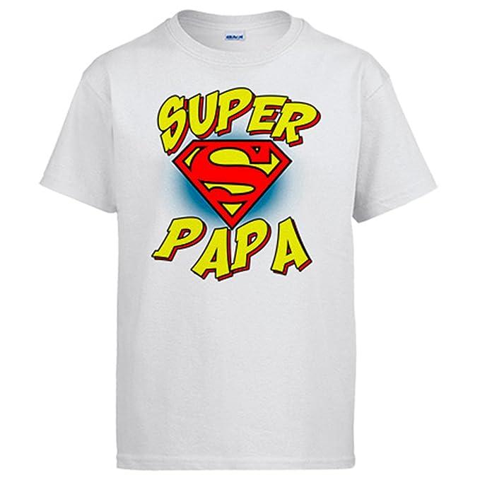 02a3384c9 Camiseta Súper Papá Logo Superman - Blanco