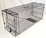 Coyote, Dogs, Large Racoon, Otter, Armadillo, Fox Trap -- 42''x18''x16'' Collapsible Trap- Live Animal