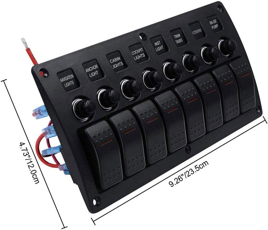 Impermeabilice el panel marino del interruptor del eje de balanc/ín del barco de 4 cuadrillas con los disyuntores para el cami/ón de los veh/ículos del rv