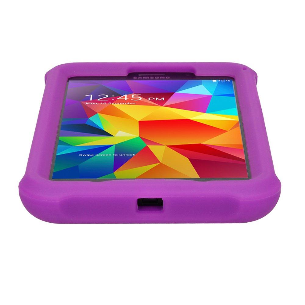 Coque de Protection Caoutchouc R/ésistante aux Chocs avec Bords et Coins Renforc/és Film de Protection TECHGEAR/® Coque Bumper pour Samsung Galaxy Tab 4 7.0 SM-T230 // SM-T231 // SM-T235 Violet